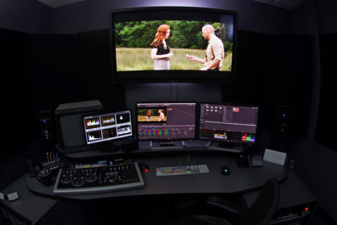 Color grading, audio mixing, post production finishing